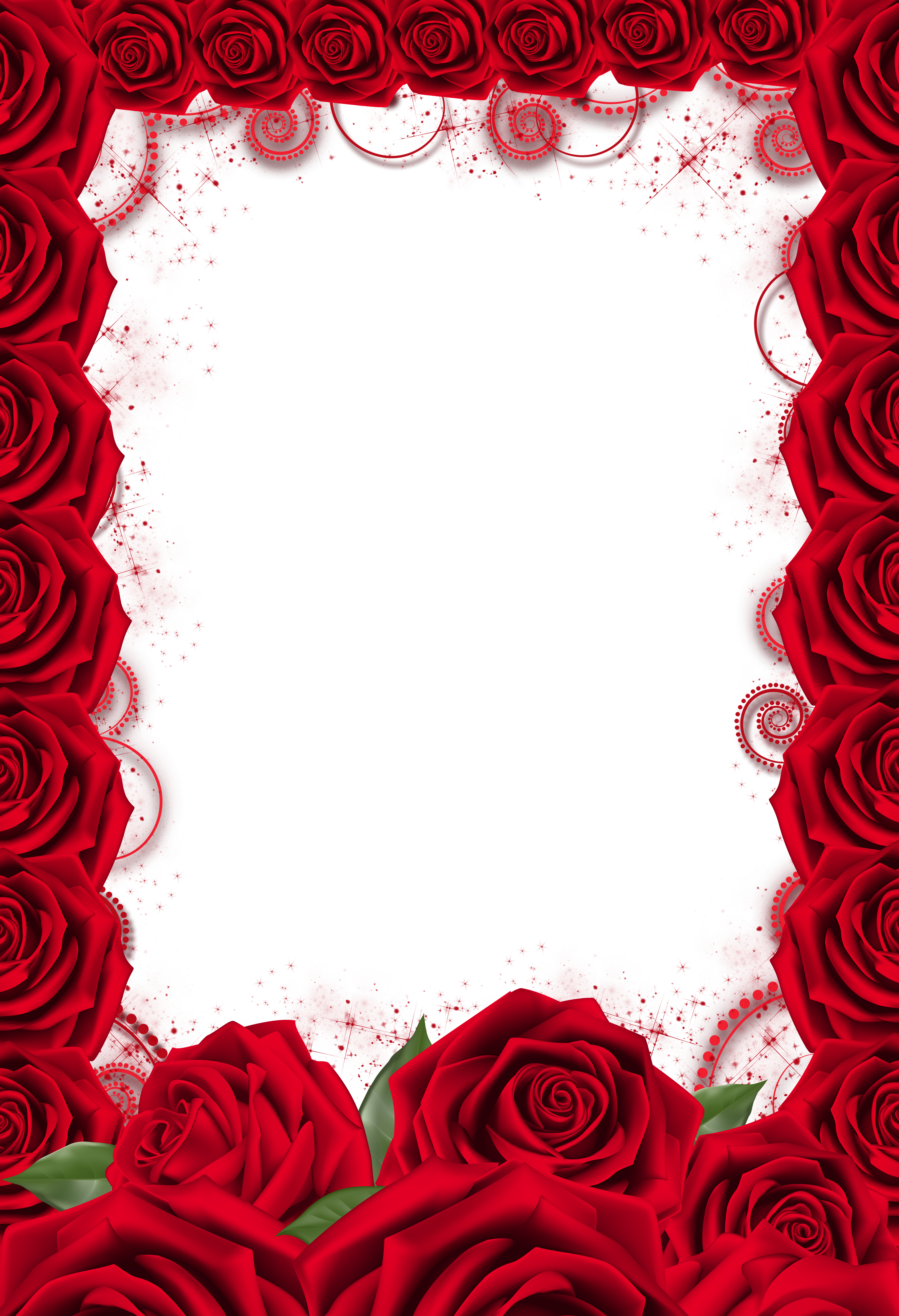 Red frame png. Rose transparent gallery yopriceville
