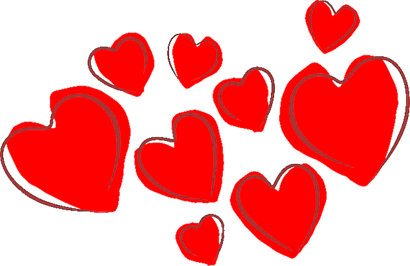 Red hearts png. Little