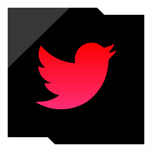 Icon page ico . Red twitter png