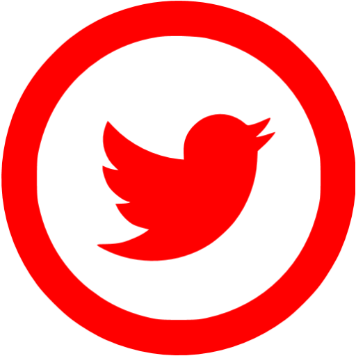 Red twitter png. Icon free social icons