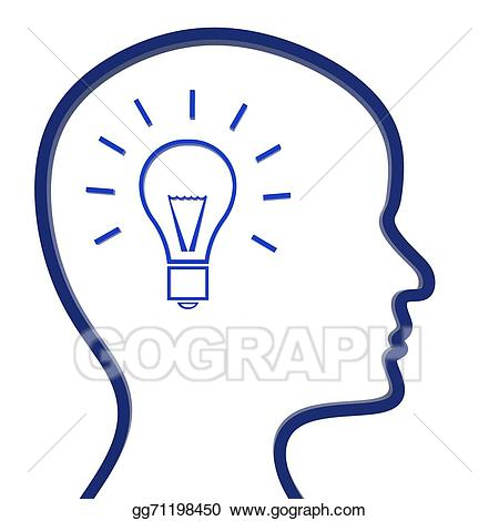 Reflection clipart. Clip art ideas think