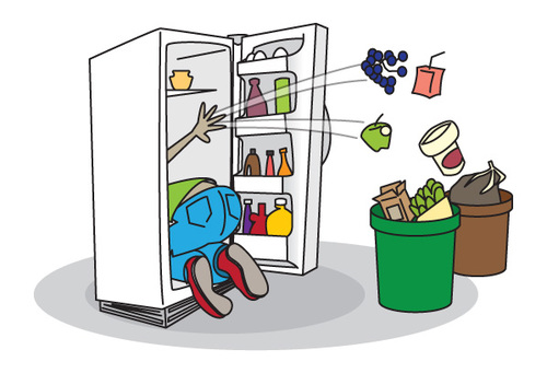 Fridge clipart cute. Dirty refrigerator clip art