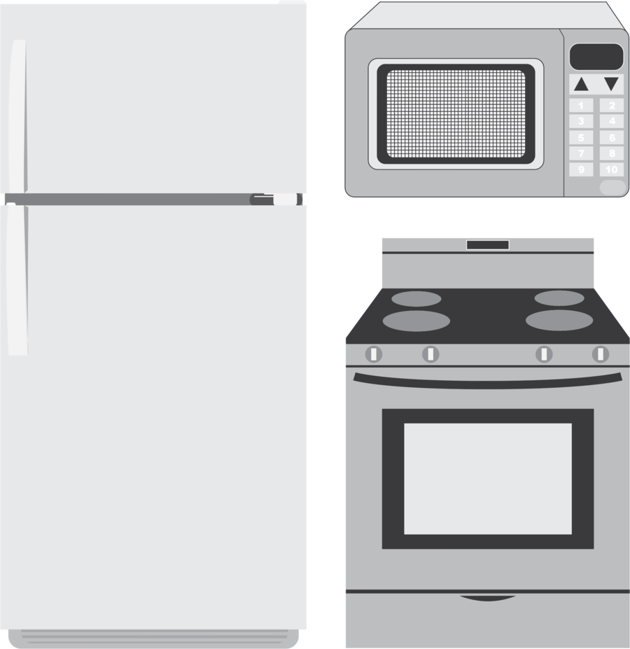 Refrigerator clipart appliance. Home cartoon kitchen product