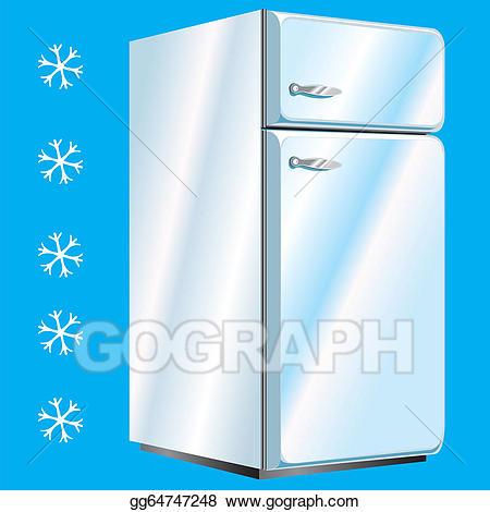 Refrigerator clipart ice box. Vector illustration icebox