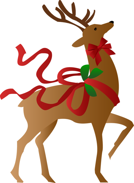 Clipart reindeer holiday. Christmas group a clip
