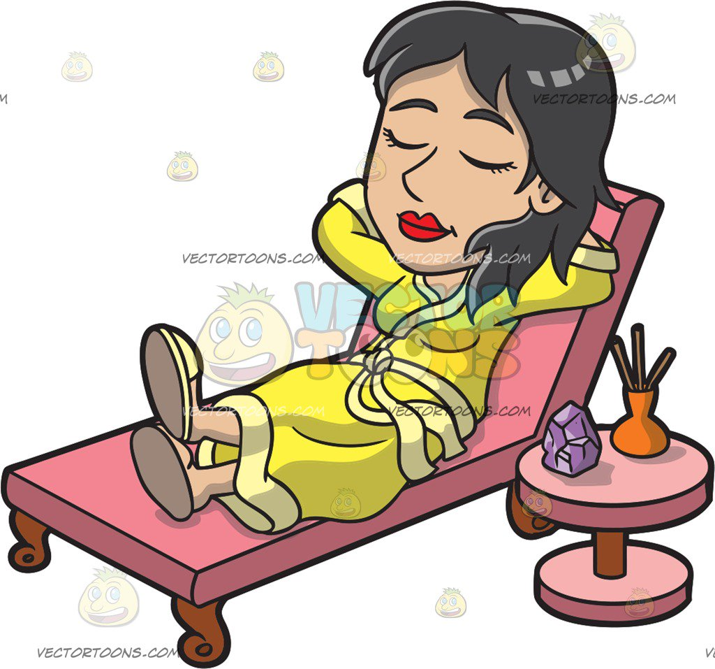 Relaxing clipart. In bed clip art