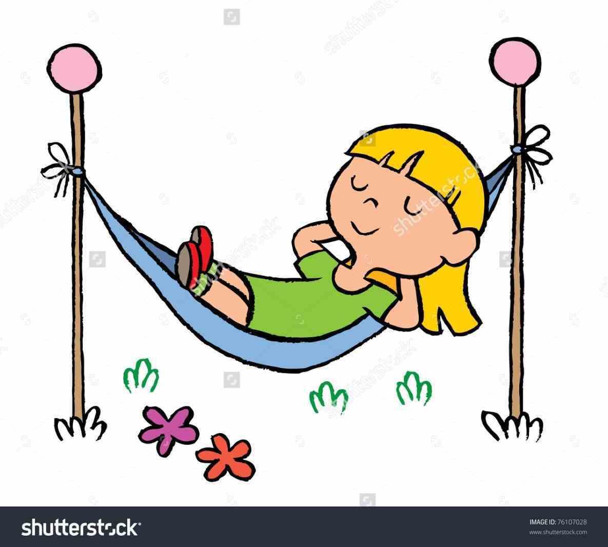 In hammock delightful clip. Relaxing clipart