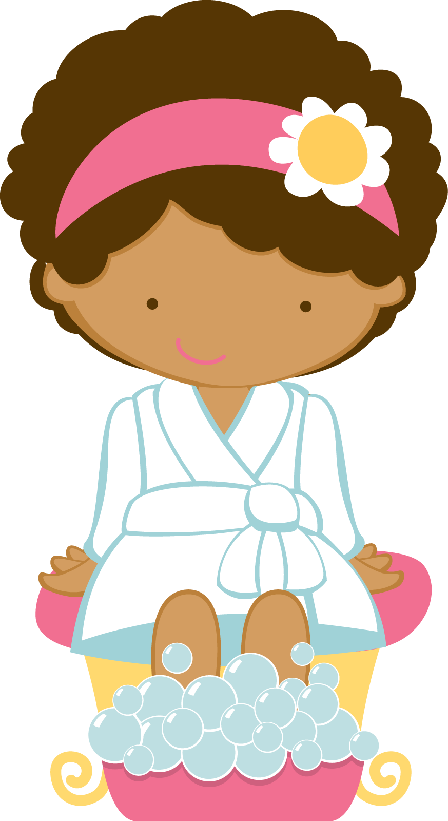 Day spa cartoon girl. Remember clipart png