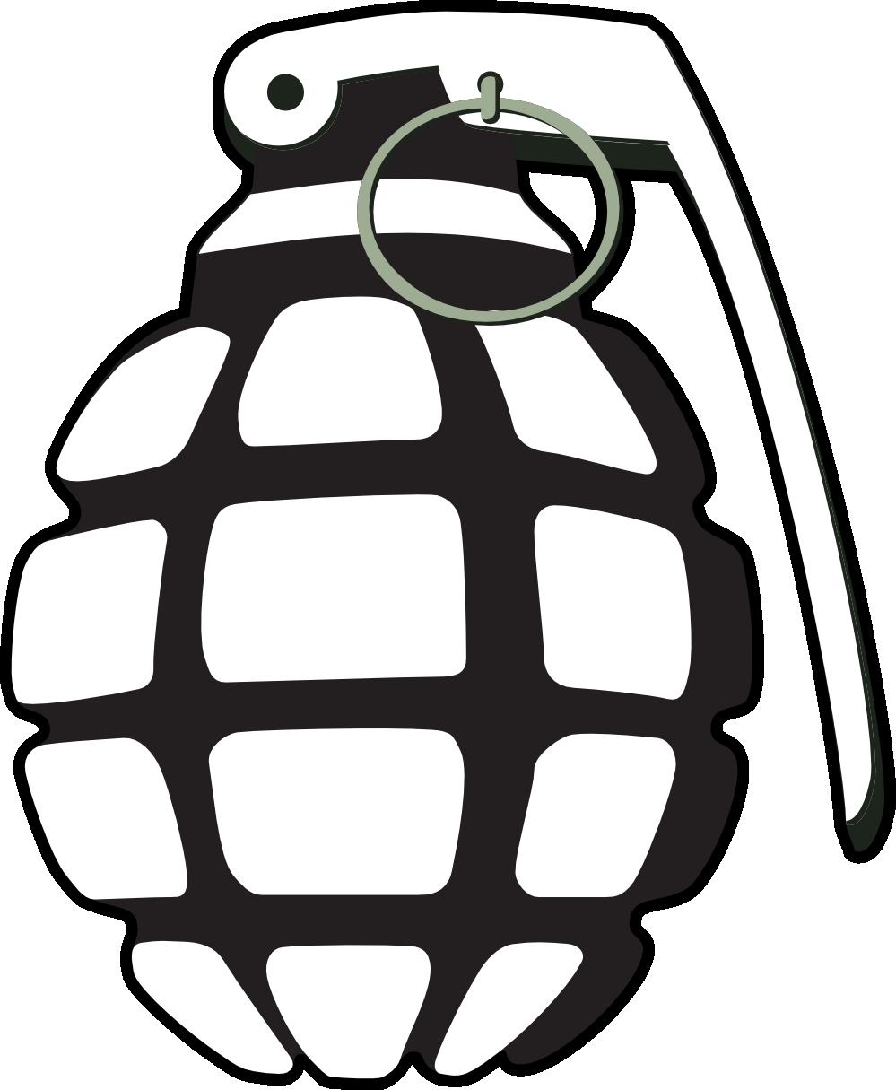 Website clipart black and white. Grenade clip art