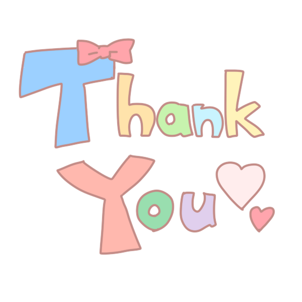 Thankyou word cute love. Thanks clipart colorful