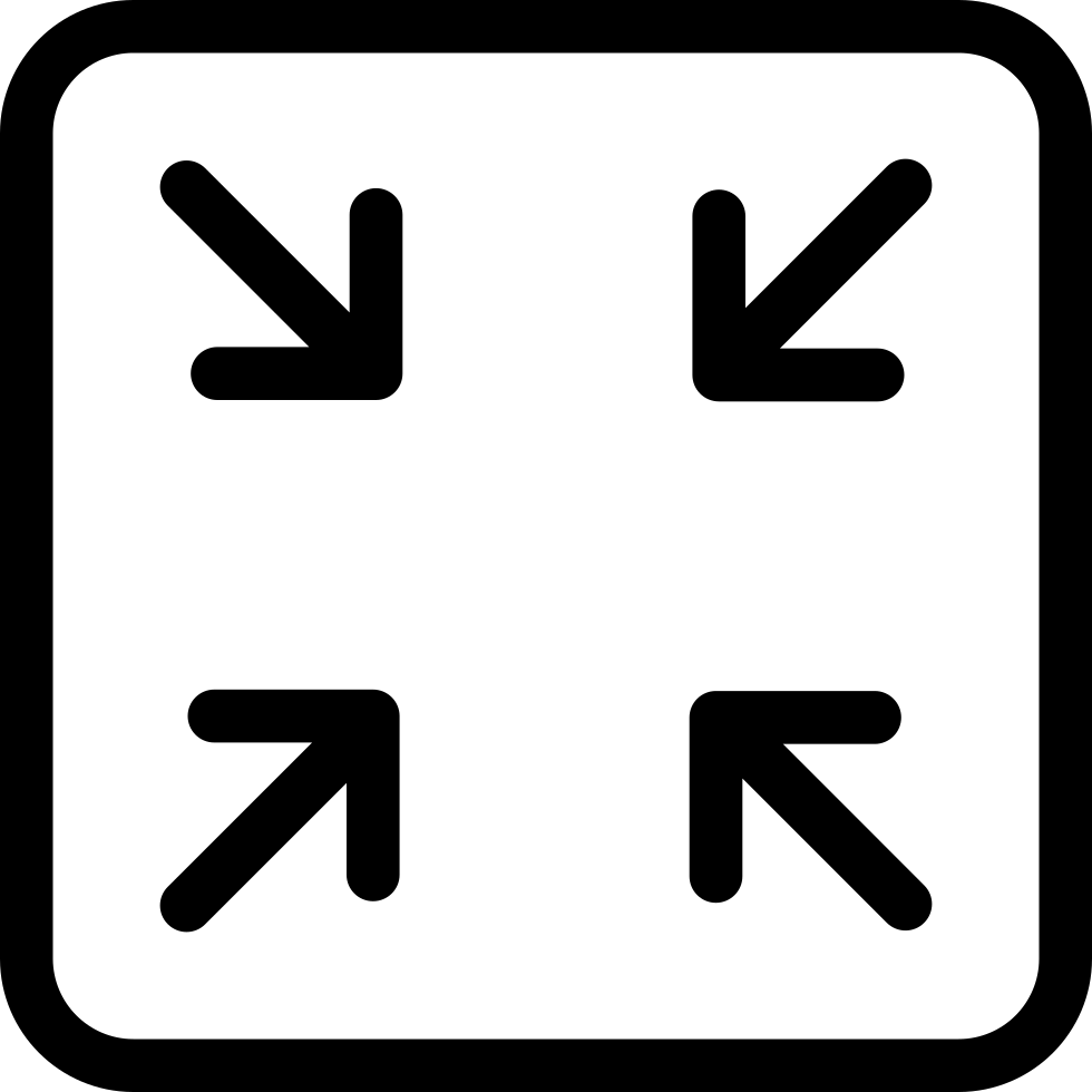 Resize button svg icon. Resizing png files