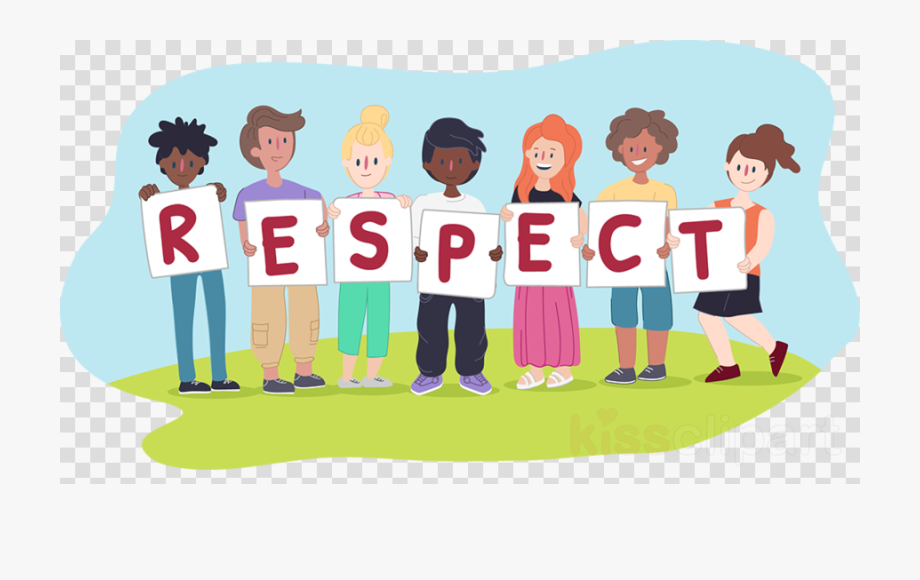 Kids playing moral values. Friendly clipart respect