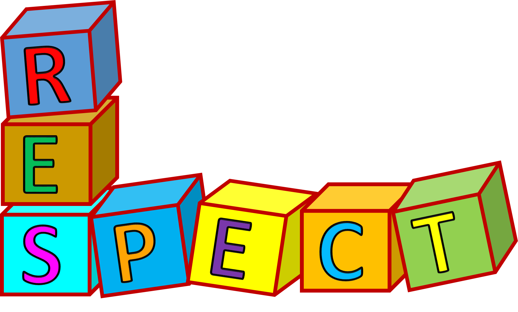 . Words clipart respect
