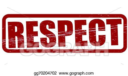 Vector stock illustration gg. Respect clipart