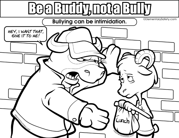 Anti coloring pages link. Respect clipart bullying