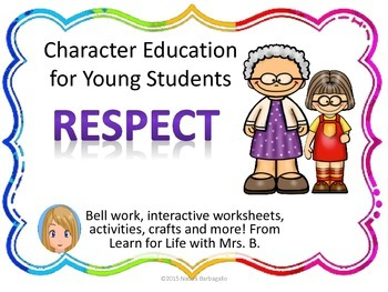 For young students . Respect clipart character education