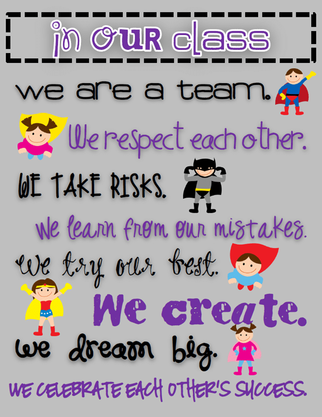 poster sets free. Respect clipart classroom quote