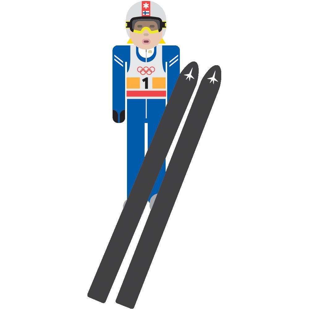 Unbreakable thisisfinland matti nyknen. Skis clipart ski jump