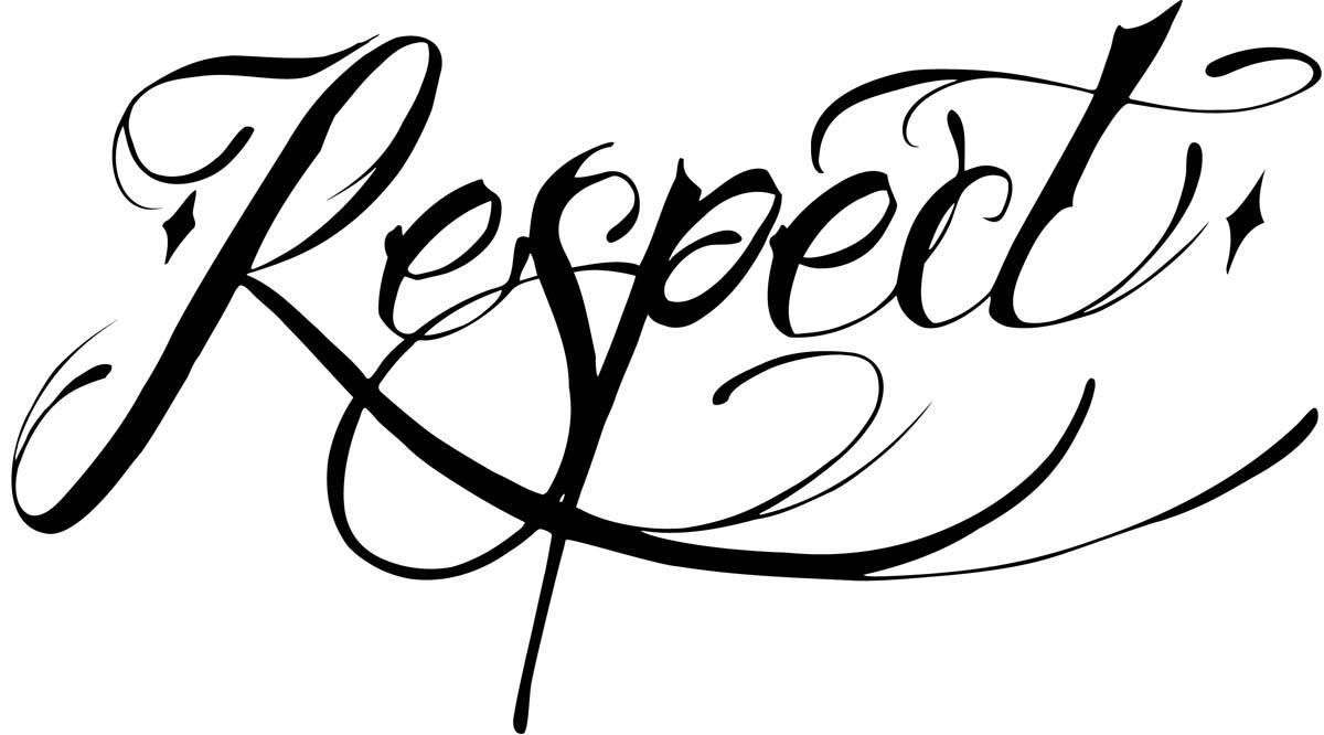 Respect clipart cursive. Clip art library