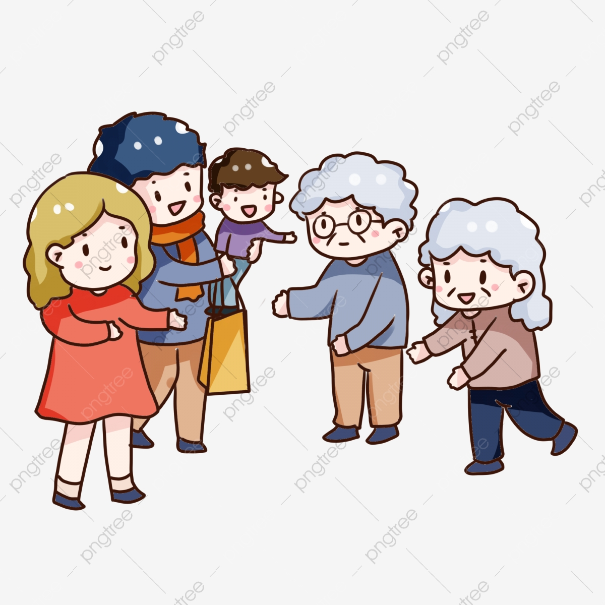 Hand drawn cartoon double. Respect clipart home visit