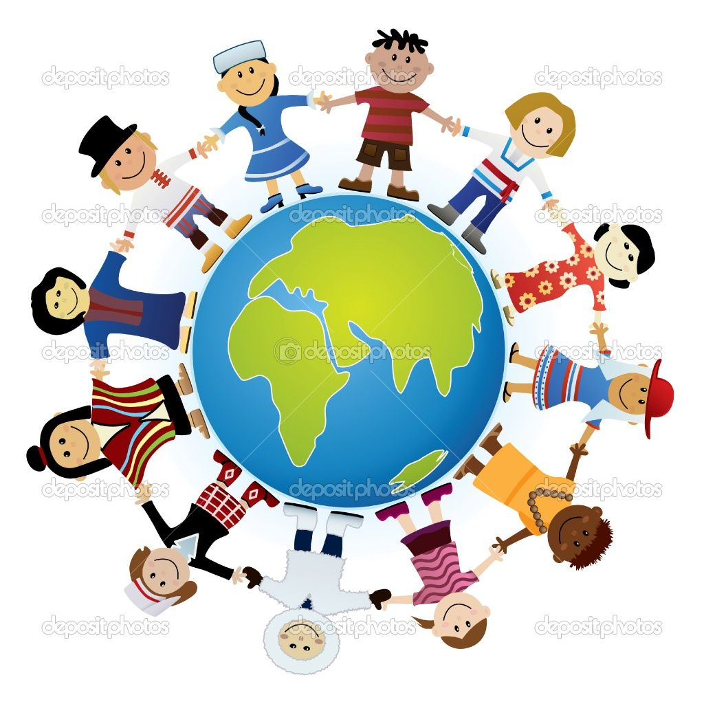 Respect clipart middle childhood. Kids around the world