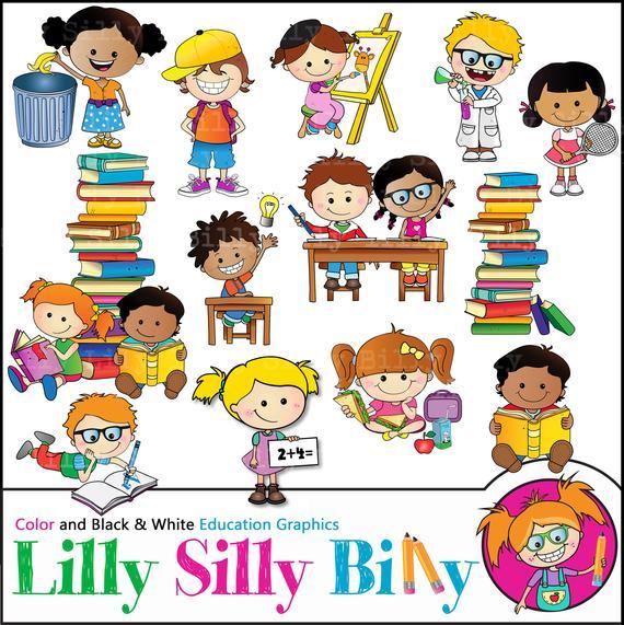 School day bundle children. Respect clipart toddler