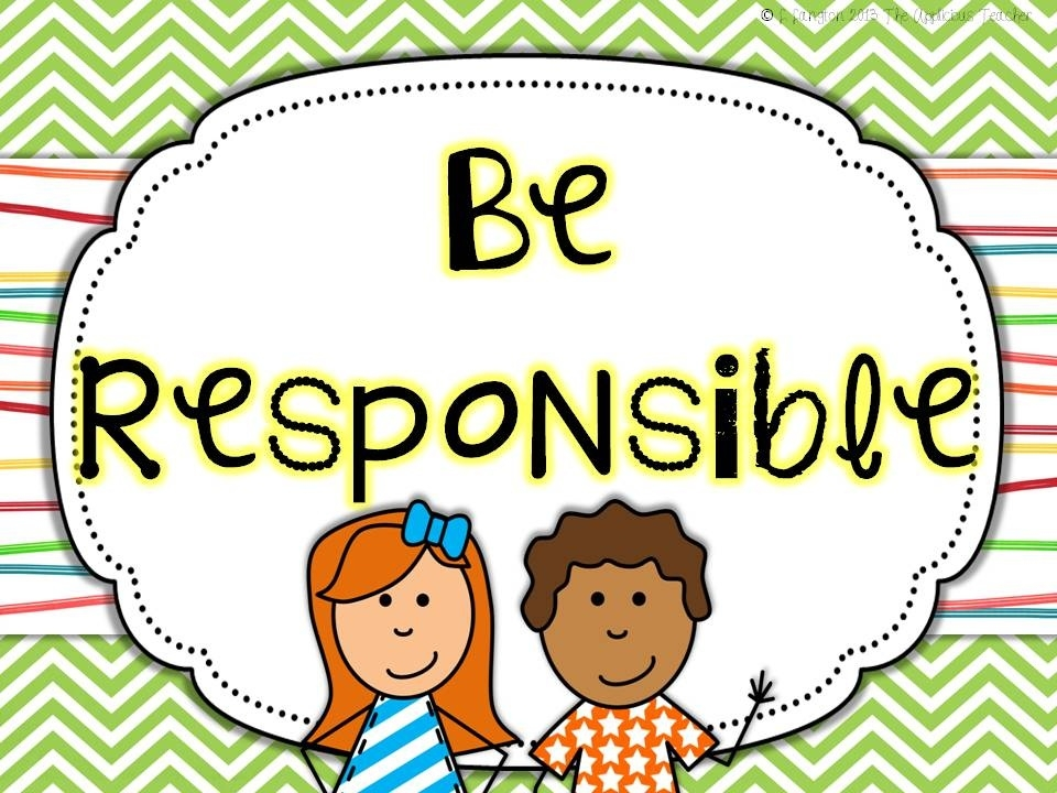 Responsibility clipart. Student writings and essays