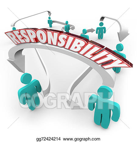 Responsibility clipart. Drawing passing job task