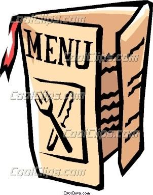 Restaurants clipart. Menu for clip art