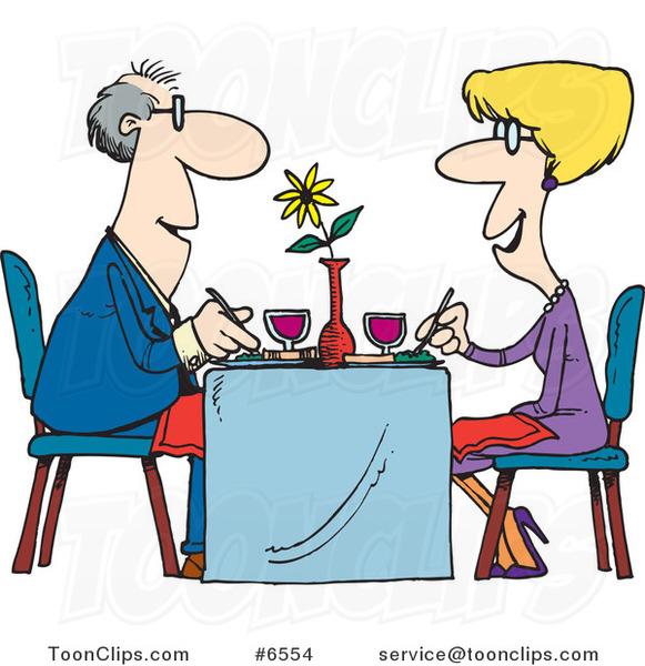 Restaurants clipart couple dining. Cartoon at a restaurant