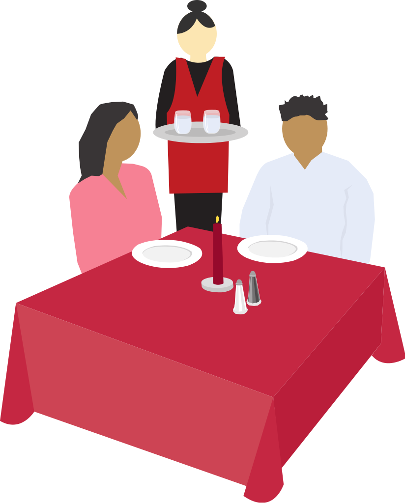 File couple dining clip. Restaurants clipart dinner