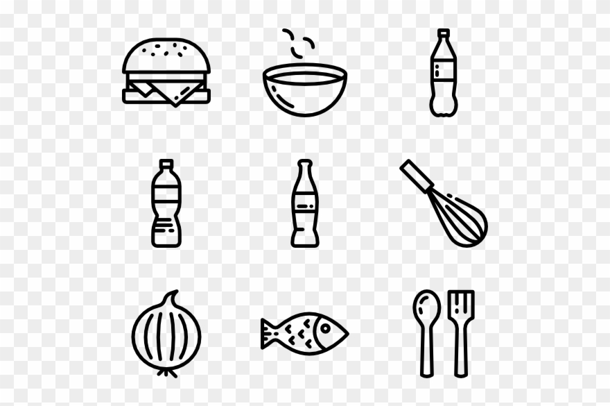 Restaurants clipart icon. Food and restaurant line