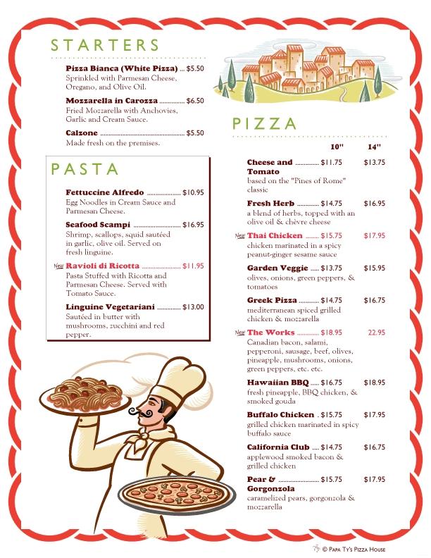 Chart and printable world. Restaurants clipart restaurant menu