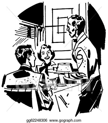 Stock Illustration - A black and white version of a vintage ...