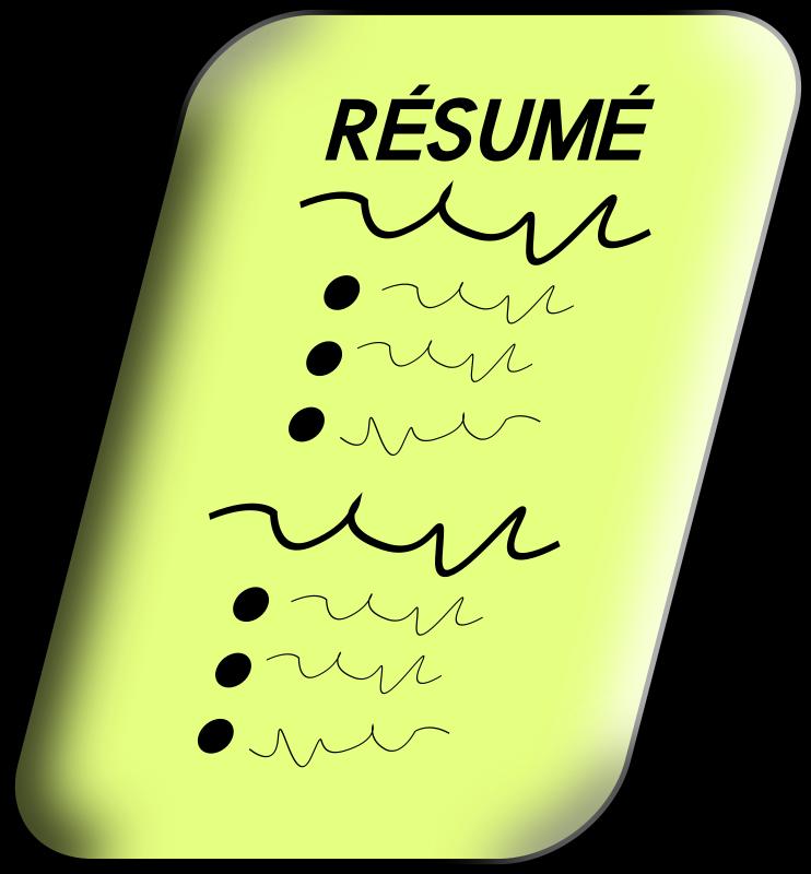 Resume medium image png. Curriculum clipart transparent