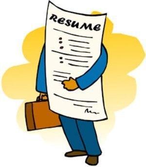 Resume clipart job candidate. I ll say it
