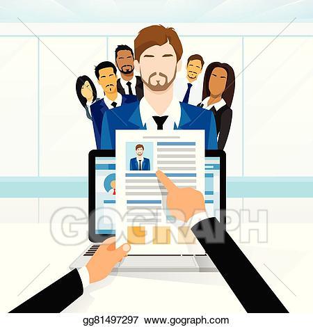 Vector illustration curriculum vitae. Resume clipart job candidate