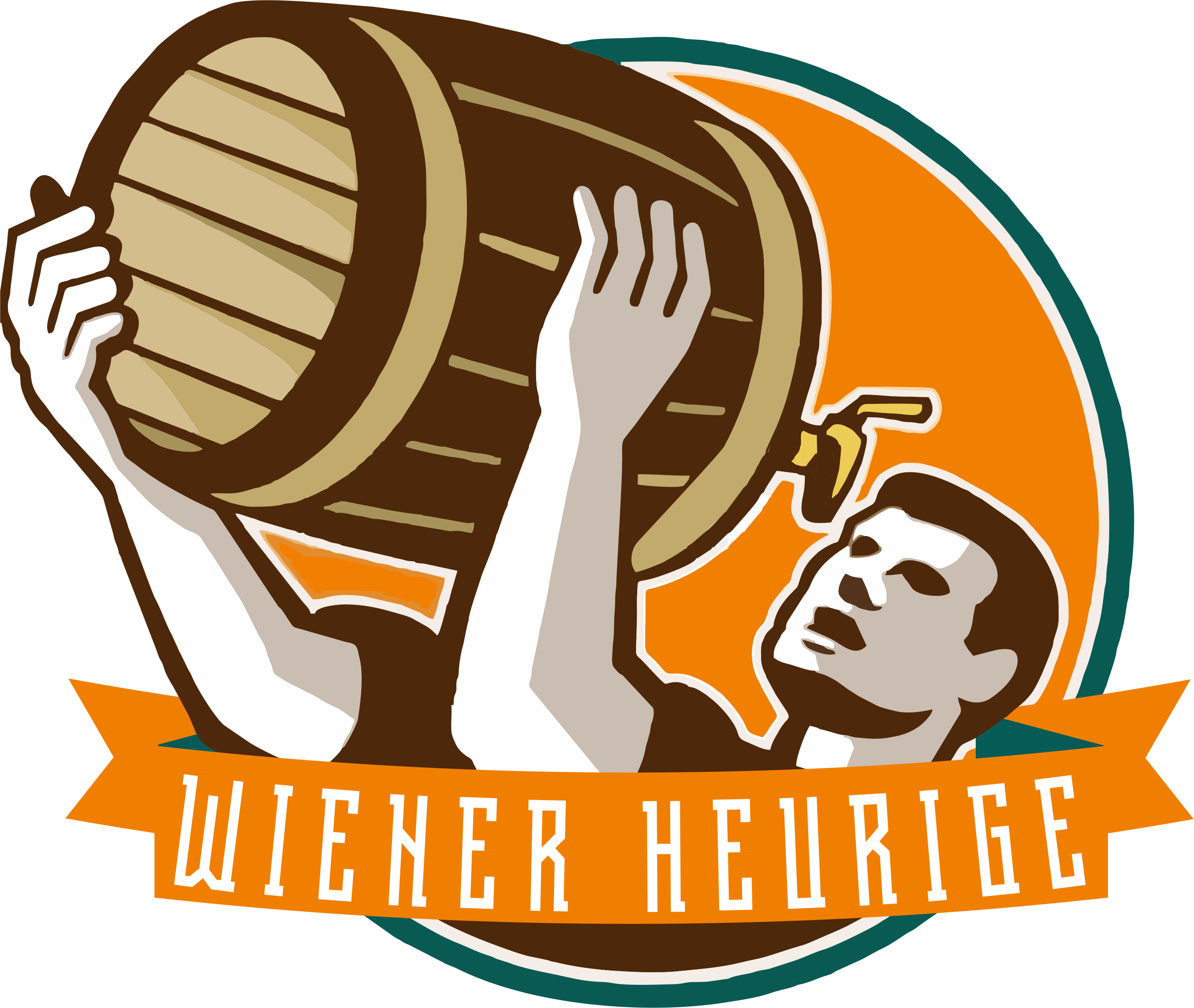 Logo wiener heurige schweiz. Retro clipart bartender