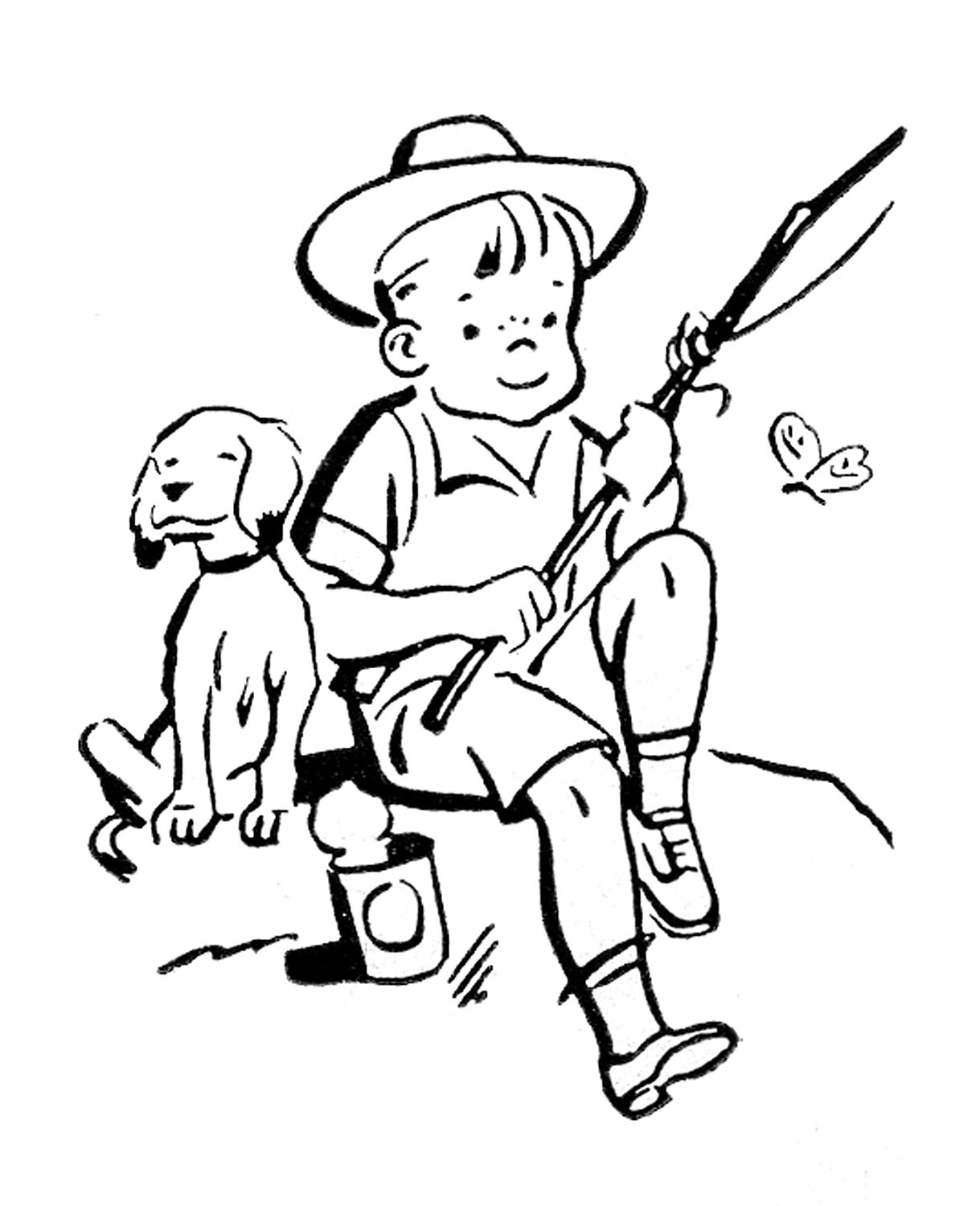 Retro clipart boy. Playing images cute kids