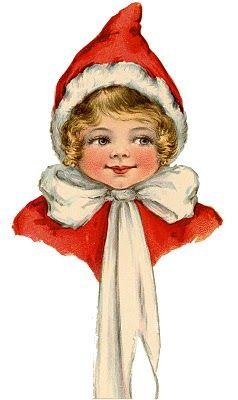Retro clipart elf.  valentine children images
