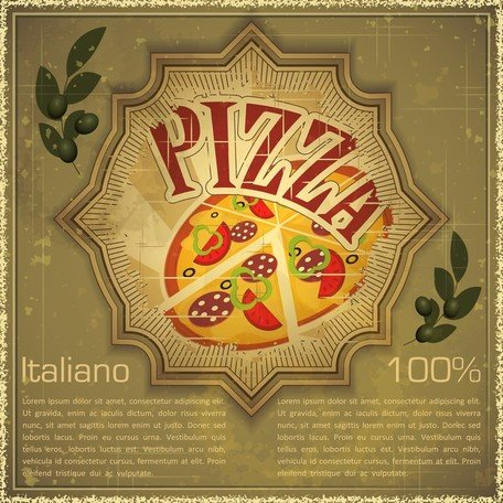 Free backgrounds and vector. Retro clipart pizza