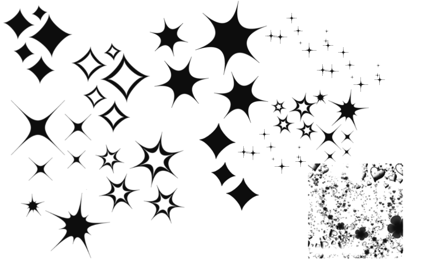collection of drawing. Sparkle clipart retro