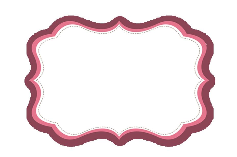 Retro frame png. Fnf floral vintage etiket