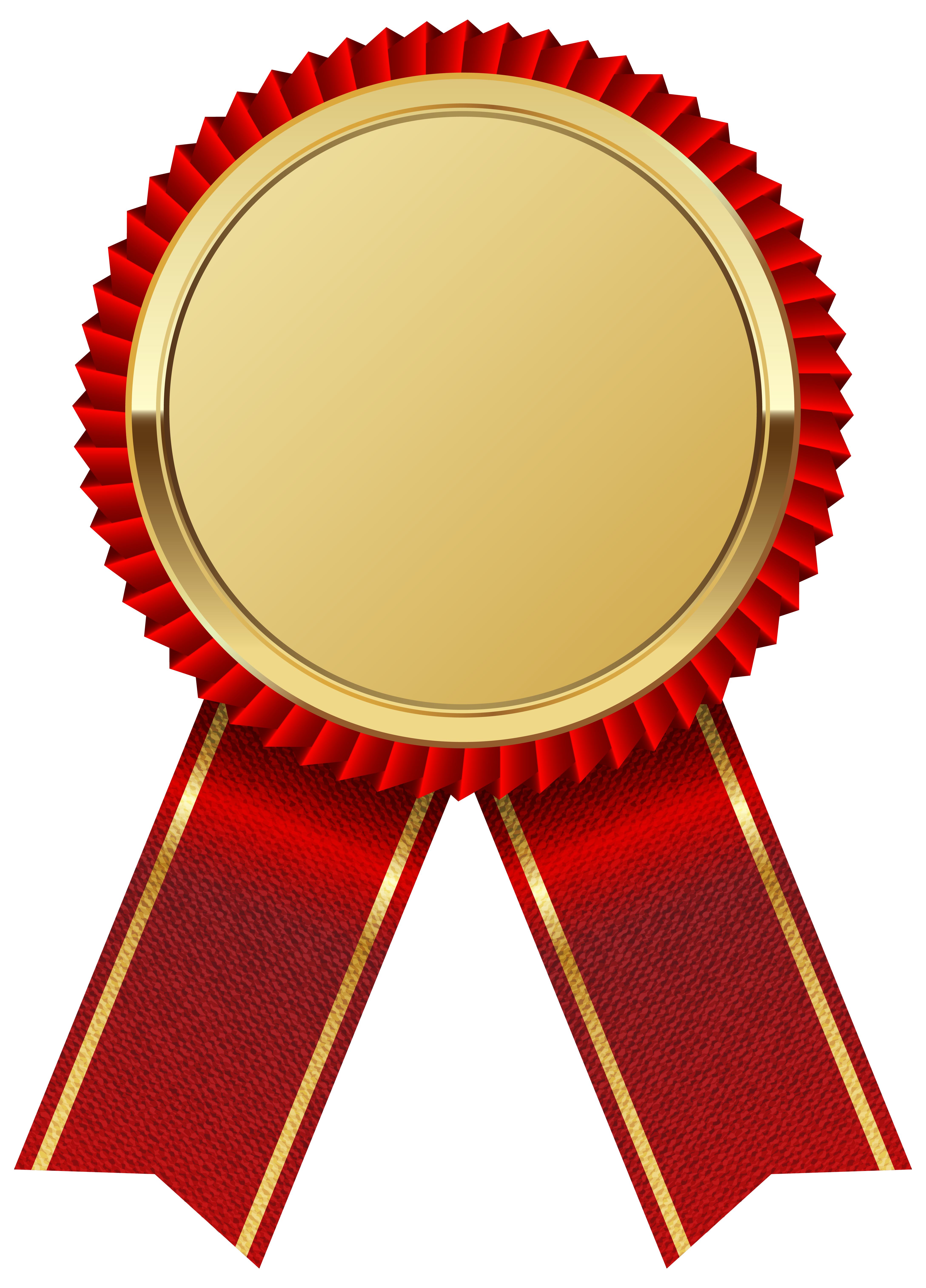 Gold medal with red. Win clipart french window