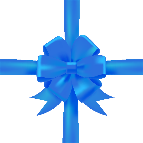 Ribbon png vector. Blue bow icon data