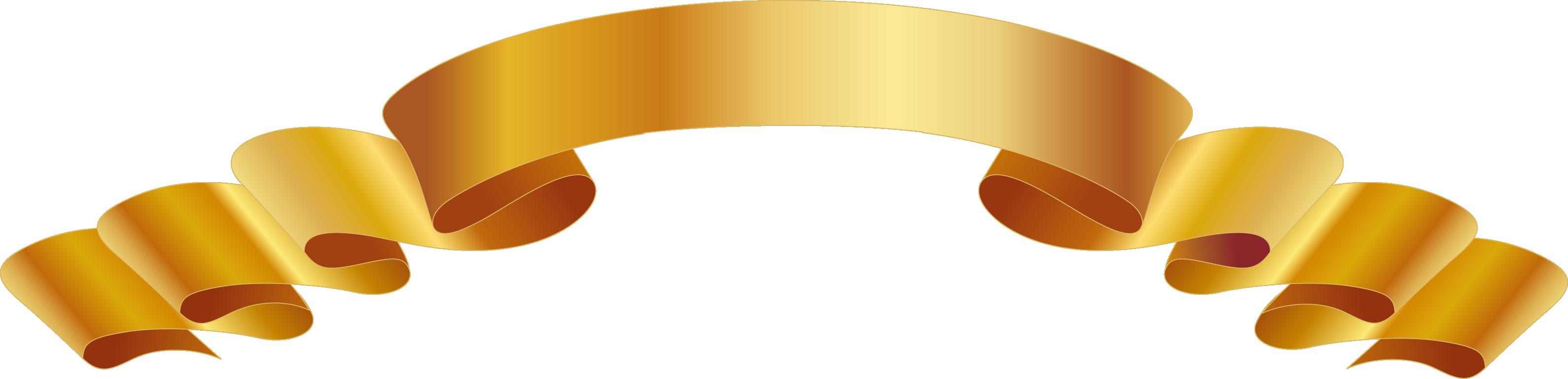 Ribbon vector png. Euclidean download gold design