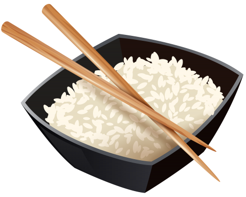 Chinese and chopsticks best. Rice clipart