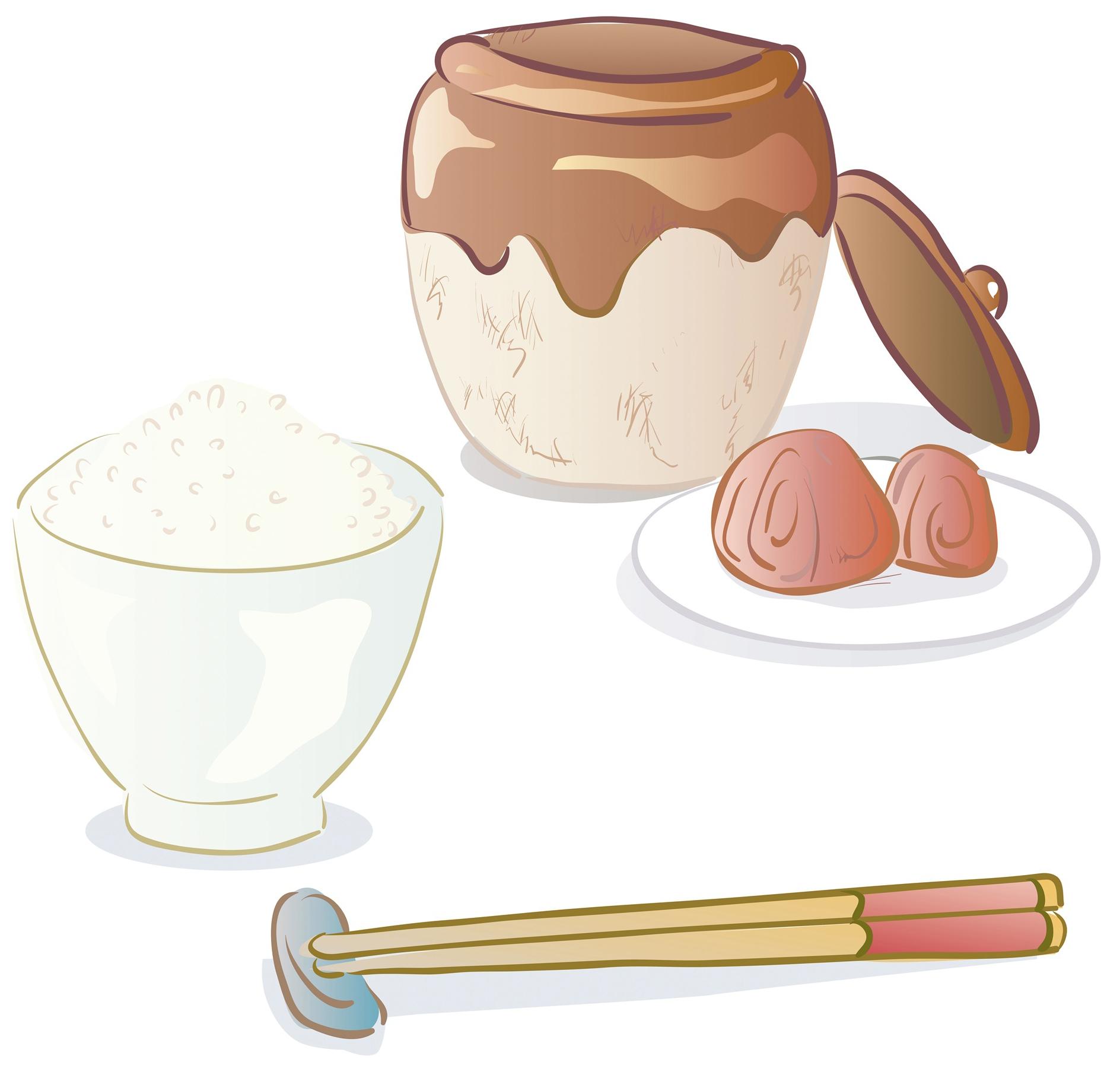 Japanese cuisine tsukemono chazuke. Rice clipart cup rice