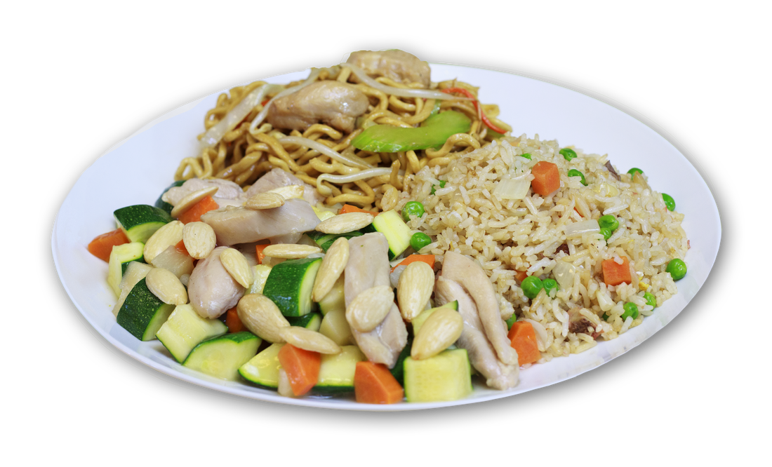 Combination plates china cafe. Soup clipart fried rice