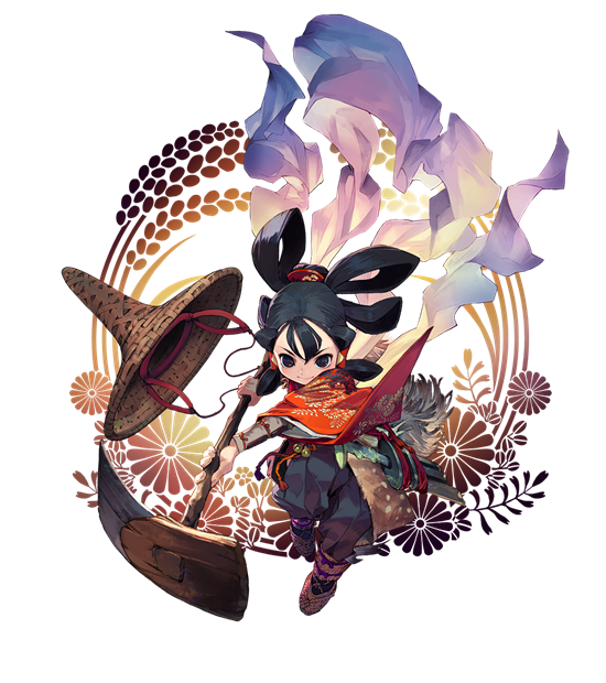 Sakuna of and ruin. Rice clipart rice harvest
